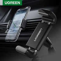 Ugreen-Soporte de teléfono móvil para coche, Clip de ventilación de aire para iPhone 12 11 8, GPS