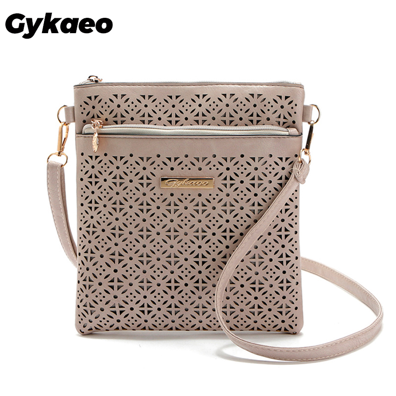2019 Women Messenger Bag Hollow Out Bolsa Feminina Bolso Mujer Leather Shoulder Bag Small Crossbody Bags For Women Bucket Bags
