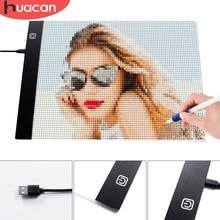 HUACAN Diamond Painting A4 LED Light Tablet Pad diamante accessori mosaico dimmerabile a tre livelli ultrasottile