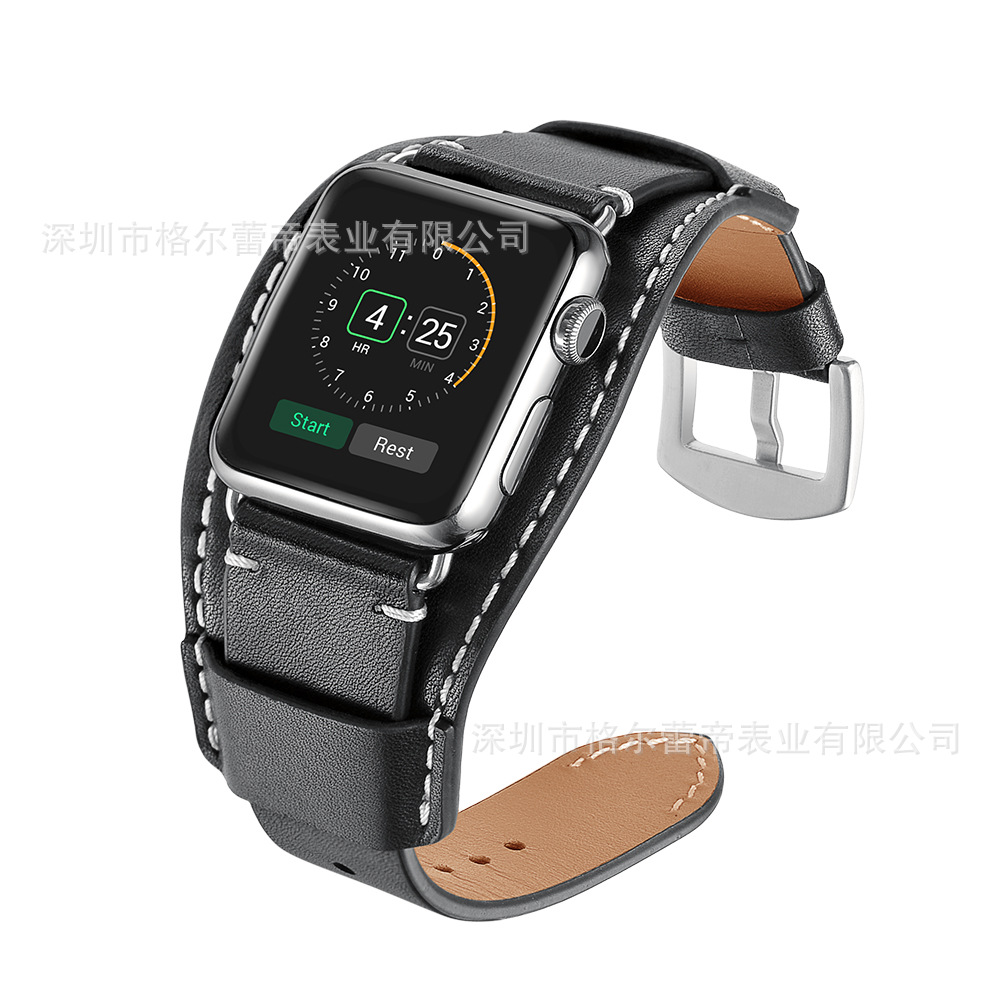 For Apple APPLE Watch Strap Own New Style Horse Leather Bracelet Watch Strap First Layer Natural Leather