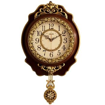 Reloj de Pared grande, de lujo, Vintage, silencioso, Digital, clásico, Reloj de...