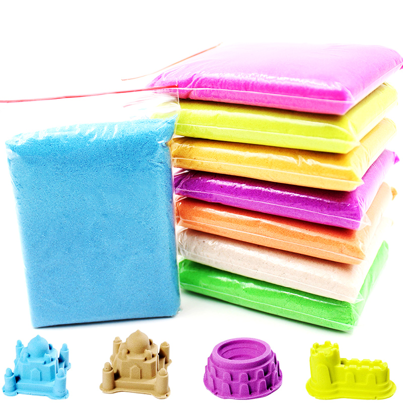 100g Soft Magic Sand For Kids Toy DIY Antistress Supplies Slime Space Sand Areia Magica Play Dynamic Sand Game Toy Children Gift