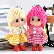 JIMITU Small gift plaid skirt confused doll mobile phone pendant Hat baby clown doll wedding return plush doll birthday gift toy(China)