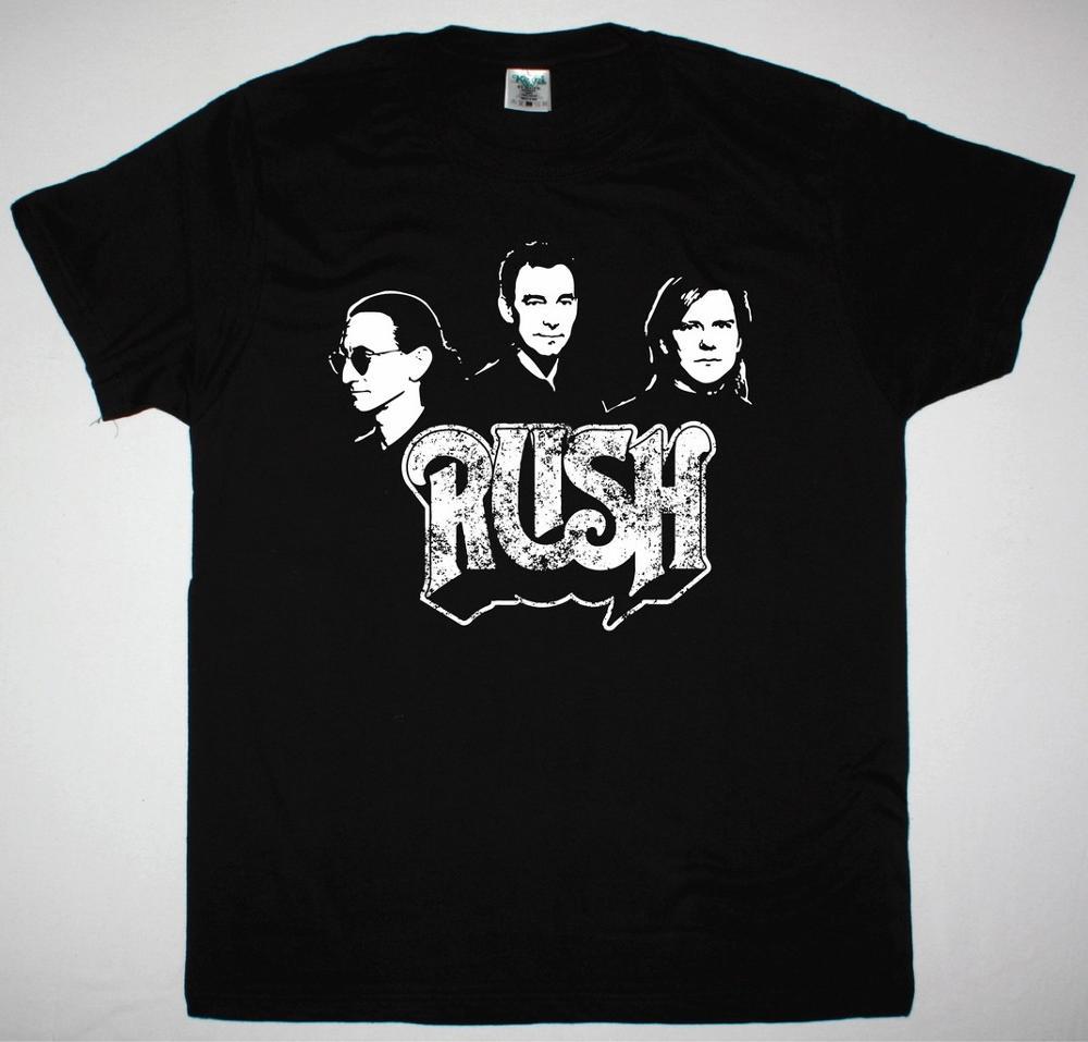 RUSH BAND NEW BLACK T SHIRT - Best Rock T-shirts  Fashion Hip Hop 100% Cotton Streetwear Tee Shirt