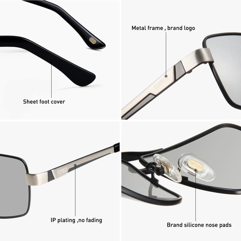 Image 4 - CAPONI Metal Sun Glasses Polarized Day And Night Driving Eyewear For Male High Quality Photochromic Sunglasses Oculos BS031-in Men's Sunglasses from Apparel Accessories