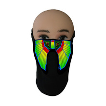 New Halloween LED Masks Light Up Party Terror Cold Helmet Fire Festival Glowing Dance Night Decor