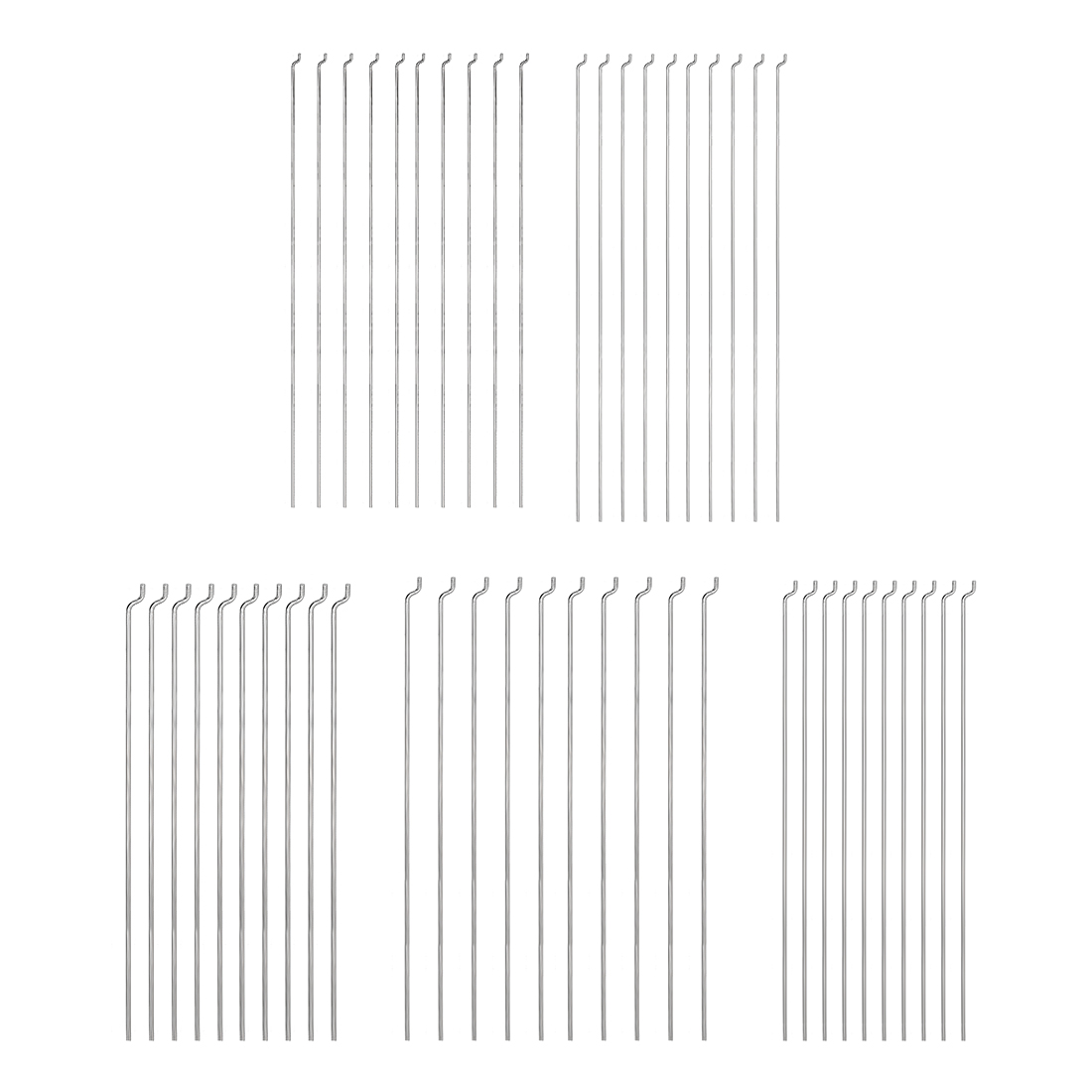 10 Inch Steel Z Pull//Push Rods Parts for RC Airplane Plane Boat Replacement uxcell 1.2mm x 260mm Pack of 10