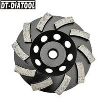 цена на DT-DIATOOL Dia 100mm/4inch M14 Thread Diamond Segmented Turbo Row Cup Grinding Cup Wheel Granite Marble Concrete Diamond Wheel