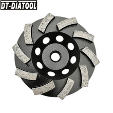 DT-DIATOOL Dia 100mm/4 zoll M14 Gewinde Diamant Segmentiert Turbo Reihe Tasse Schleifen Cup Rad Granit Marmor Beton diamant Rad