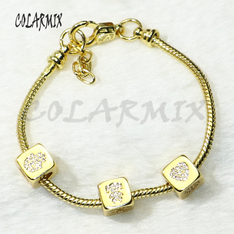 5 pcs Cubic beads bangle bracelets mix beads jewelry bangles charms accessories bangles bracelets jewel for women 50284
