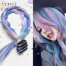 Neitsi 20'' 10pcs/pack Straight Long Single Clip In One Piece Heat Resistant Synthetic Hair Extensions Ombre Hairpiece For Woman neitsi 20 5pcs pack straight long single clip in one piece ombre synthetic hair extensions pure color hairpiece for women
