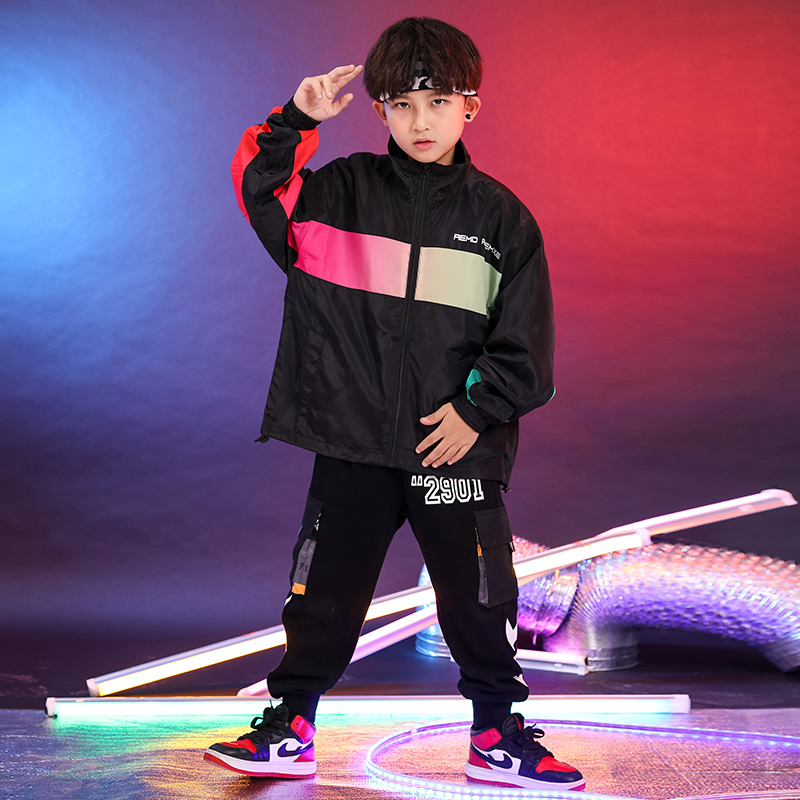 Fashion Jazz Dance Costumes Kids Hip Hop Rave Outfits Street Dance Practice Performance Clothing Children Sport Clothes DC3795