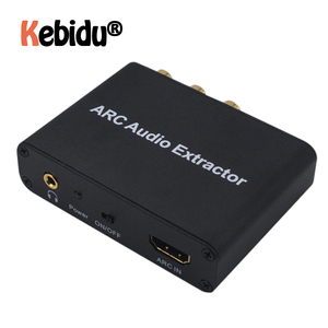 Latest HDMI ARC Audio Extractor Audio Adapter 3.5mm Stereo Fiber Coaxial Converter For Amplifier Soundbar Speaker HDTV(China)