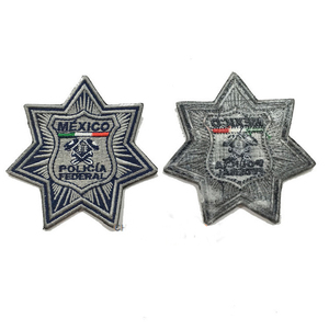 Image 2 - Military patches Mexico police embroider badges manufacturer iron on backing 3.0inch height could make as your logo