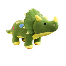2021 New Dinosaur Plush Toys Cartoon Triceratops Cute Stuffed Toy Dolls For Kids Children Boys Birthday Gift 40cm Dinosaur Dolls