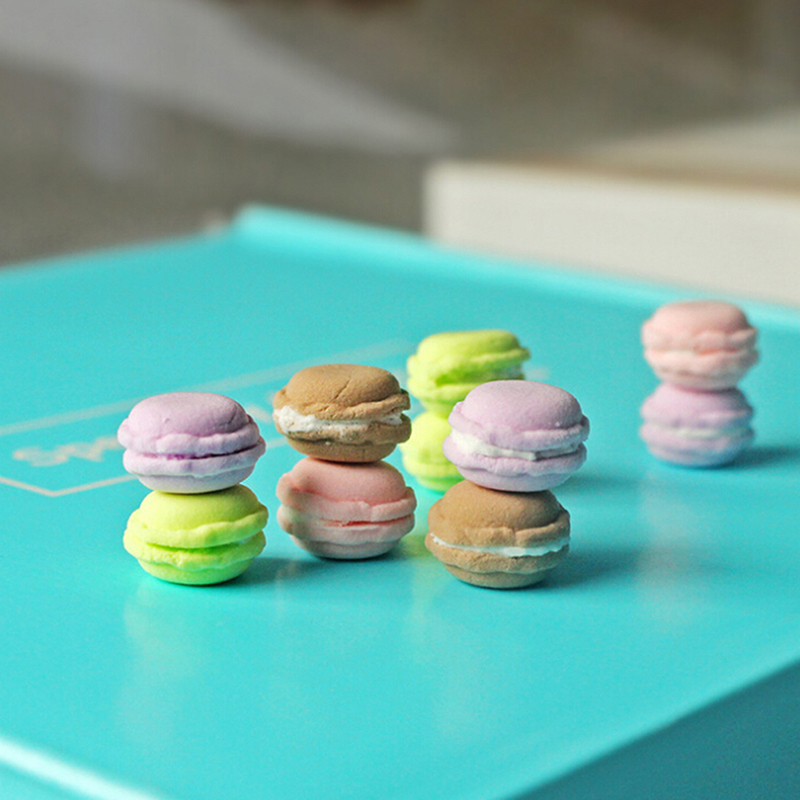 Elegant 1//12 Dollhouse Food Dessert Colourful Macarons Various Flavours U2N3
