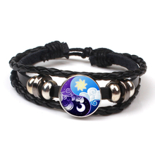 Fashion Retro Tai Chi Yin Yang Pattern Multilayer Leather Bracelet Logo Charm Party Souvenir Gifts