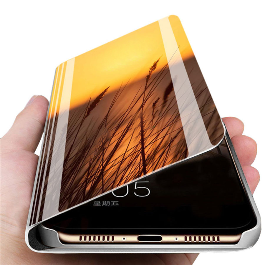 Mirror View Flip Phone Case For Apple iPhone 11 Pro Max 7 8 6 6S Plus 10 Standing Cases For iPhone XR XS MAX X Protection Cover