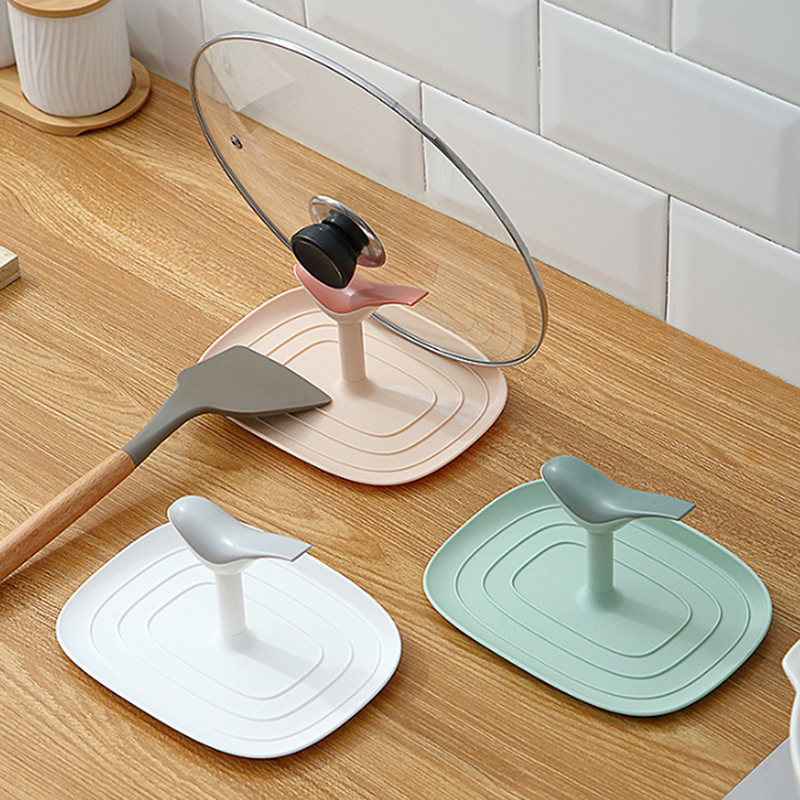 Kitchen Spatula Ladle Shelf Bird Shape Spoon Rest Pot Lid Holder Rack Cover Strainer Pad Multifunction Stand Containers
