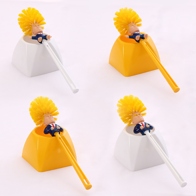 1PCS Creative Donald Trump Toilet Brush Family Hotel Toilet Cleaning Tool WC Brush Cleaning Accessories trump Toilet brush