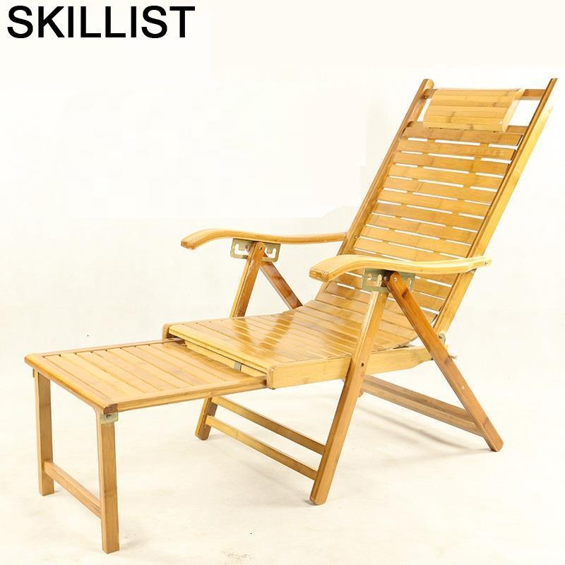 Divano Chaise Modern Armchair Relax Folding Bed Bamboo Sillon Reclinable Sillones Moderno Para Sala Cama Plegable Recliner Chair