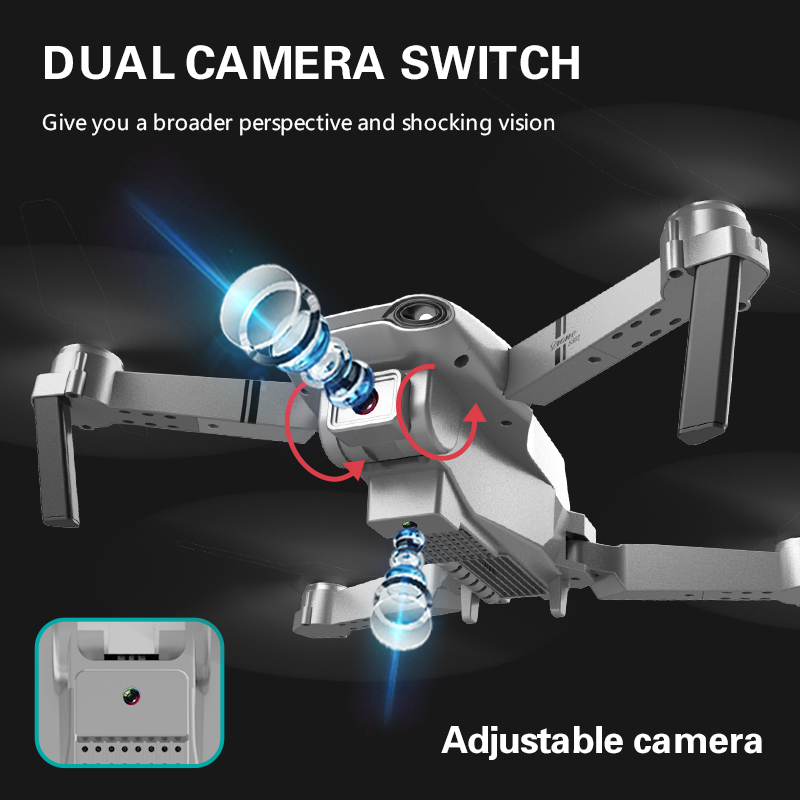 XKJ S602 RC Drone 4K HD Dual Camera Professional Aerial Photography WIFI FPV Foldable Quadcopter Height Hold DronToy 6