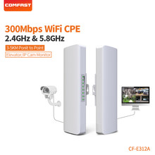 COMFAST Wireless bridge outdoor 300Mbps router 5.8g WIFI signal booster Amplifier long range Antenna wi fi access point CF-E312A(China)