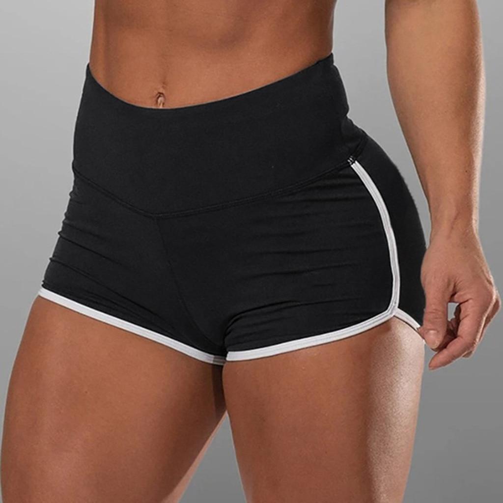 Women High Waist Women Basic Slip Bike Shorts Compression Workout Leggings Yoga Shorts Capris Summer Jogging Pant