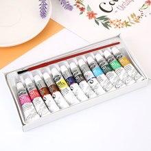 Кисти для живописи маслом 6 мл Швейные аксессуары художественные принадлежности для студентов 1 набор с кистью 12 цветов Профессиональные детские цветные хобби