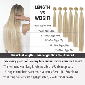 "Image 4 - Isheeny 50pc Fusion Nail/U Tip Hair Extensions 14"" 18"" 22"" Remy Keratin European Human Hair On Capsule"