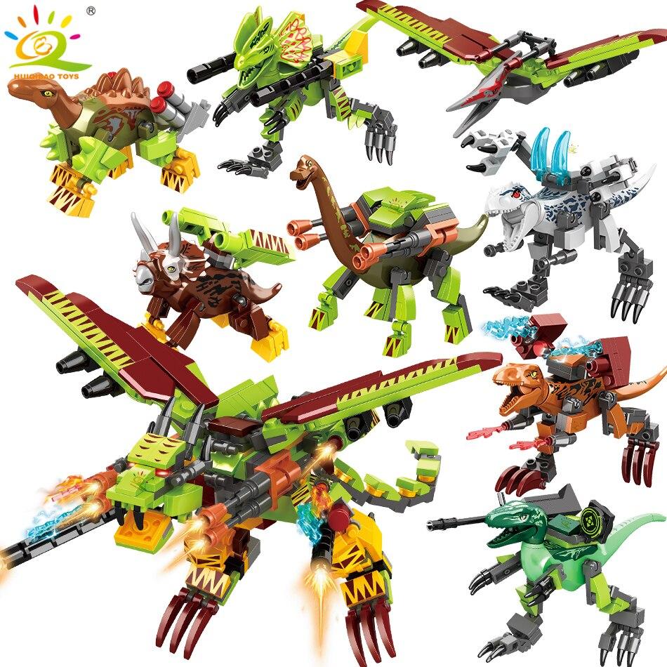 8 ชิ้น/เซ็ต Jurassic World ตัวเลข Tyrannosaurus ต่อสู้ Mechanical ไดโนเสาร์รุ่น legoingly อาคารบล็อกอิฐของเล่นเด็ก