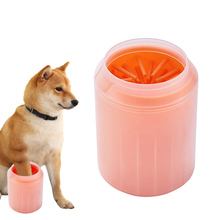 Dog's cleaning tool cat's soft plastic scrubbing paws pet accessories pet cat dog foot cleaning cup pet cat cleaner