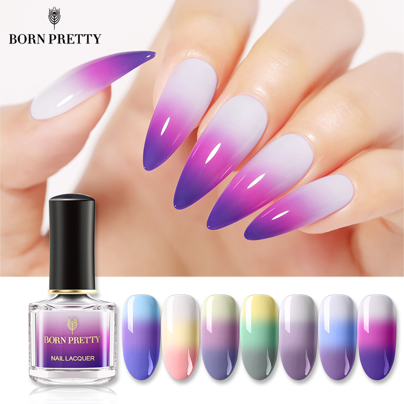 BORN PRETTY Thermal Nail Polish 6ml 3-layers Temperature Color Changing Nail Art Varnish DIY Manicuring Supplies