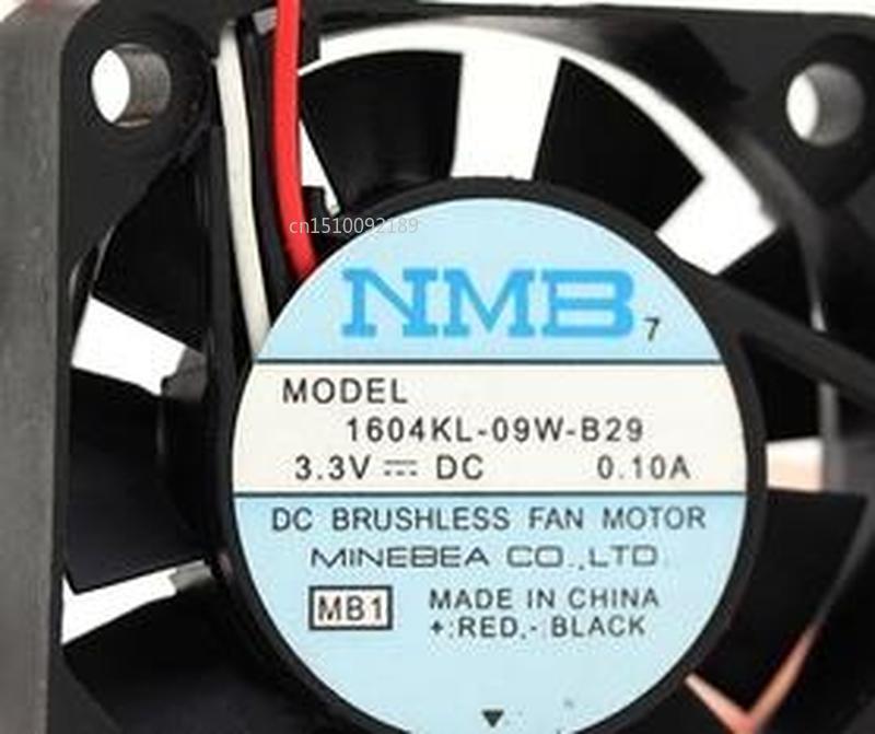 FOR Original NMB 1604KL-09W-B29 4010 3.3V 0.1A 4cm Three Wire Dual Ball Fan Free Shipping