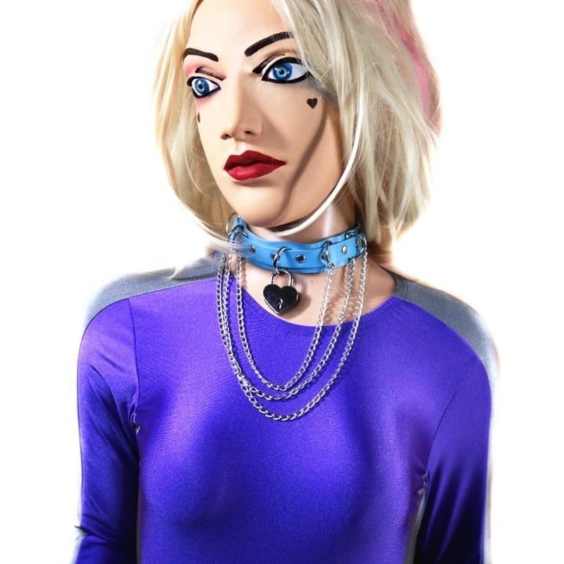 Original Punk Sensation Joker Lovers Sexy Love Heart Hip-Hop Collar Trend Jewelry Necklace Female Necklace