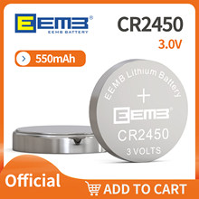 10/40 PCS EEMB CR2450 PACK 3.0V 550mAh Lithium Li-MnO2 Button Cell UL1642 UN38.3 NON-rechargeable Manufacturer Shipping Free