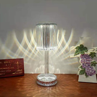 Lámpara de mesa de cristal acrílico LED recargable por USB, iluminación de noche para dormitorio, Bar, Hotel, restaurante, ambiente romántico