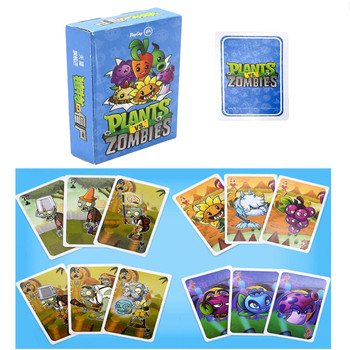 1 set Poker Paper Cards Plants vs Zombies Garden Warfare Sunflower Pea Seed Pirates Zombie Collect Card Kid Gift Toy 2