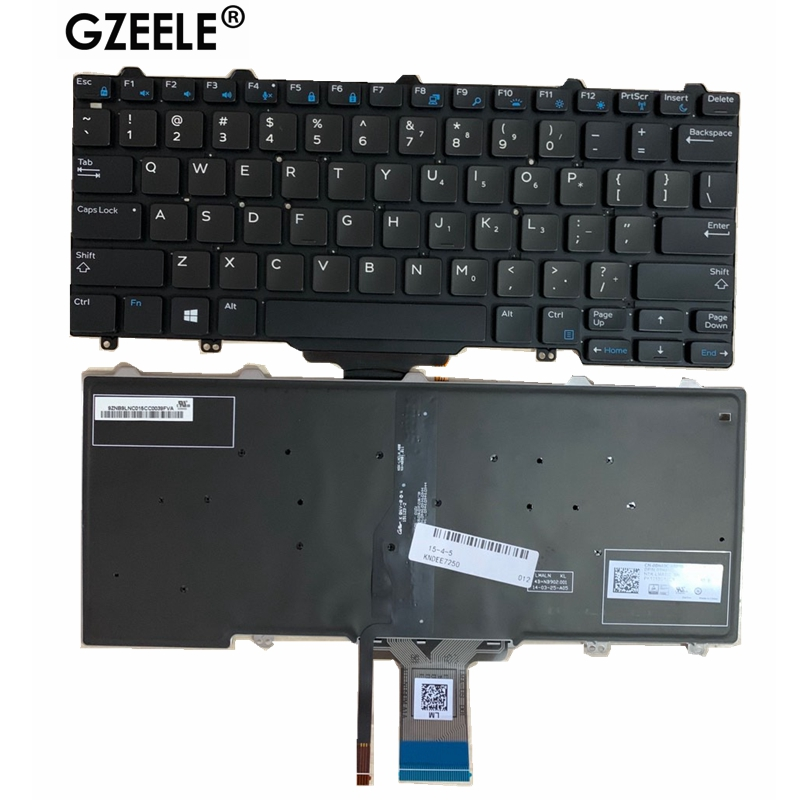NEW US Laptop Keyboard For DELL Latitude 7350 5480 5290 E5250 5270 E7270 E7250 7270MJ8HY 0MJ8HY XCD5M 0XCD5M Backlit