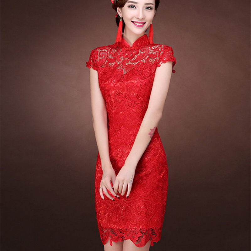 Image 3 - Women Dress Elegant Women Weeding Party Dresses Chinese Evening Sexy Dress Bodycon Lace Dresses Plus Size Vestidos Verano 2019-in Dresses from Women's Clothing
