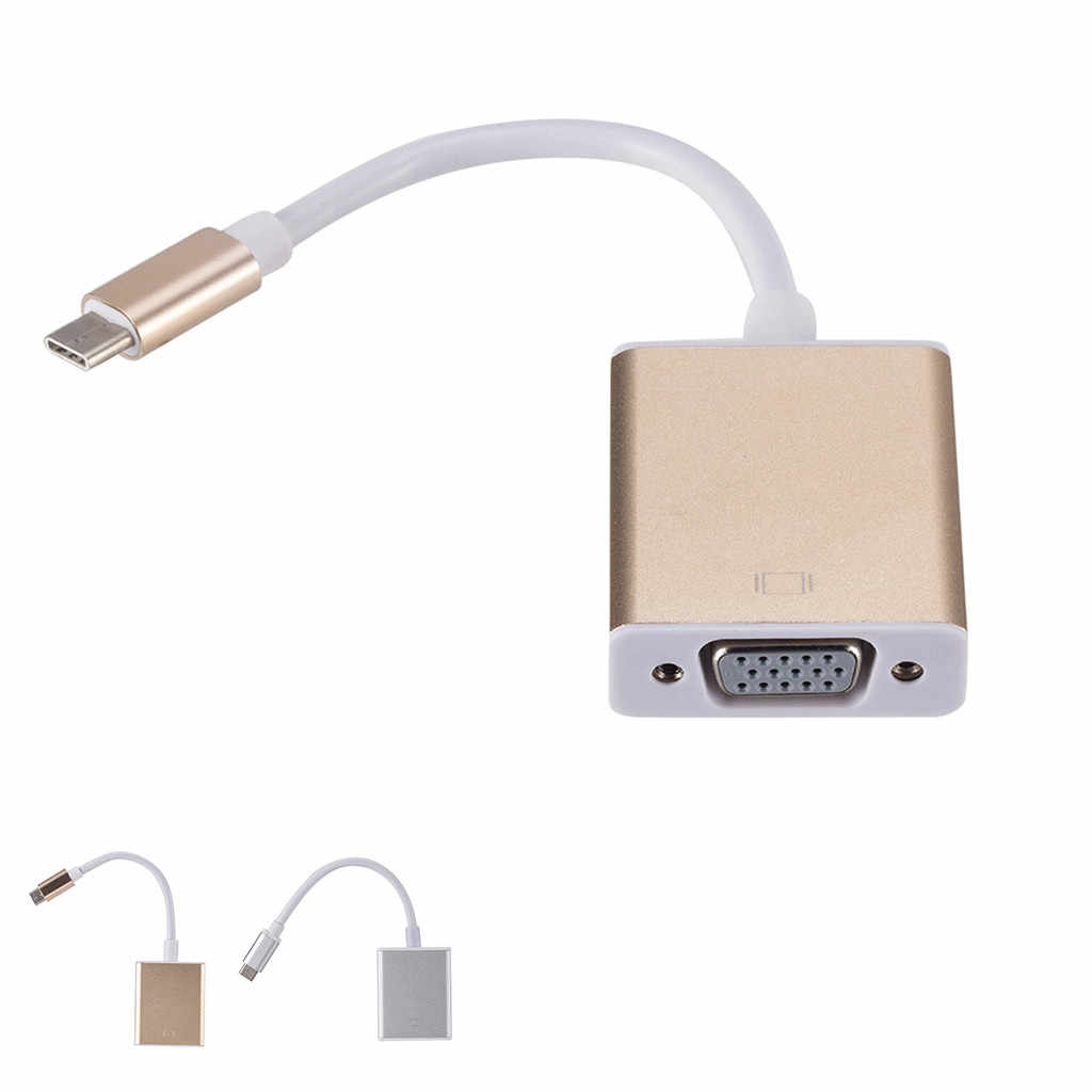 Usb di Tipo C Usb 3.1 C Connettore Maschio A Vga e Usb Femmina Av Digitale Multiporta Adattatore Per Il Nuovo Macbook surface Pro