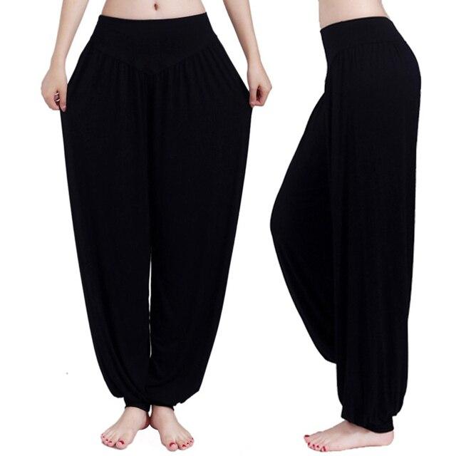 Wide Leg Yoga Pants Women Loose Pants Long Trousers for Yoga Dance  M L XL XXL XXXL Soft Modal Home Pants Yoga TaiChi Pants 2