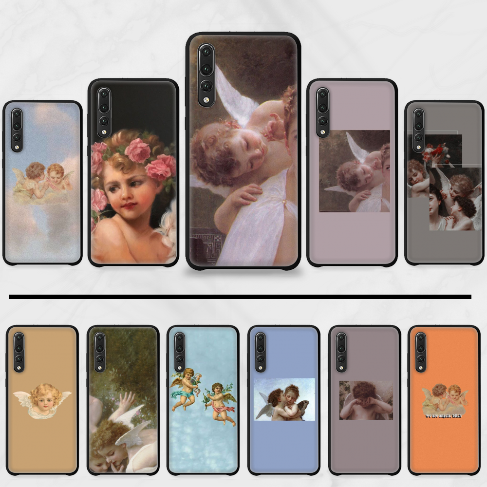 koji angel Soft Silicone TPU Phone Cover For Huawei P9 P10 P20 P30 Pro Lite smart Mate 10 Lite 20 Y5 Y6 Y7 2018 2019(China)
