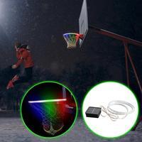 바구니 후프 태양 색상 밤에 빛나는 빛을 변경 조명 농구 림 첨부 밤에 농구 도움이 빛 LED 스트립 램프