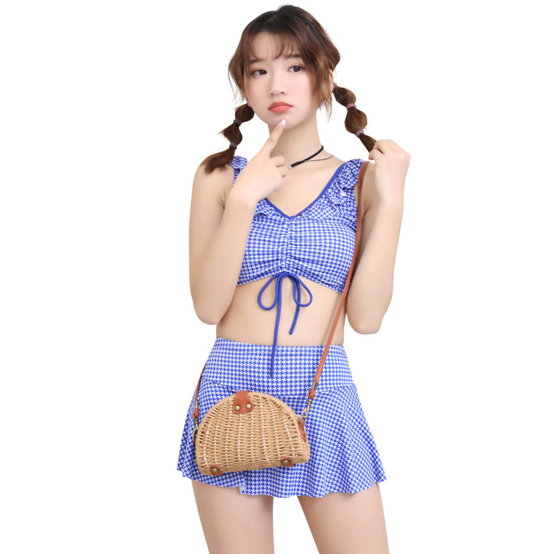 [KID'S Swimwear] New Style GIRL'S Swimsuit Big Kid Korean-style Split Skirt-Boxer Students GIRL'S Swimwear