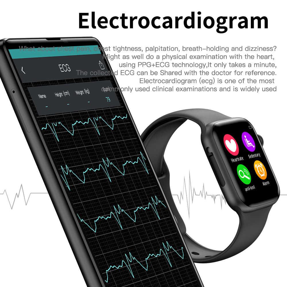 ECG Appel Bluetooth Montre Intelligente Hommes Fréquence Cardiaque Smartwatch pour Les Femmes/hommes pour Apple IOS Iwo 8/iwo 10 Plus pk F10 W34
