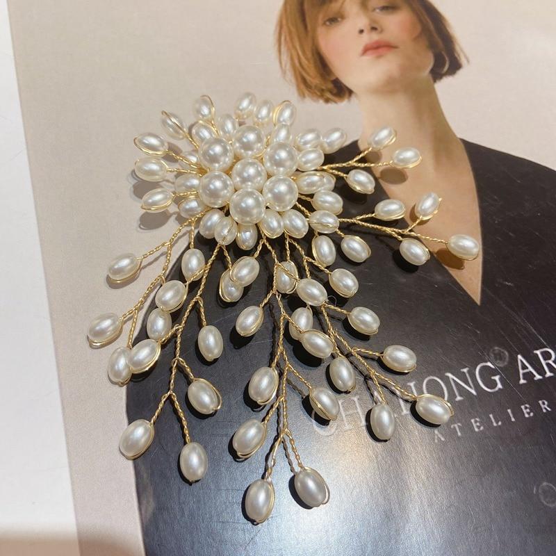Mengjiqiao новый корейский преувеличенный элегантный жемчужный