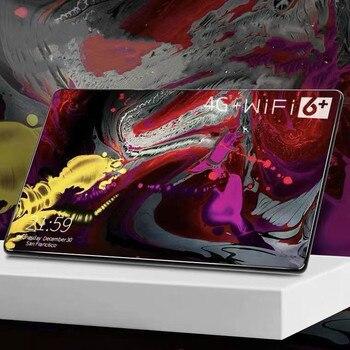 6G + 128GB Tablet PC nuevo 2021 de 10,1 pulgadas Full Netcom Ultra-delgada pantalla grande juego de aprendizaje Zhuo teléfono 4G Tablet PC