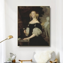 Canvas Oil Painting《Portrait Of A Woman》1670 By Abraham Van Den Tempel Poster Wall Decor Modern Home Decoration For Living room
