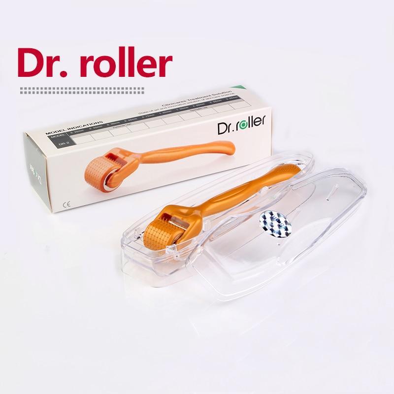 Derma Roller Dr.roller 192 Titanium Needle Mezoroller Meso Micro Needle Hair Regrowth Beard Growth Facial Skin Care Dermaroller